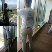 Монтаж солнцезащитной,  матовой,  энергосберегающей оконной пленки